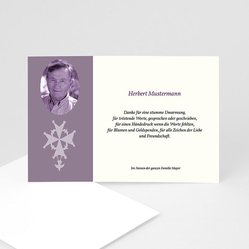 Trauer Danksagung christlich - Erinnerung 5043 thumb