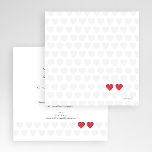 Hochzeitskarten Quadratisch - Romantic Love 50437 test