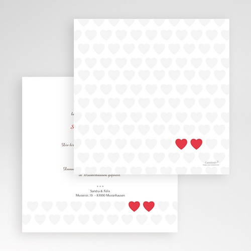 Hochzeitskarten Quadratisch - Romantic Love 50437 preview