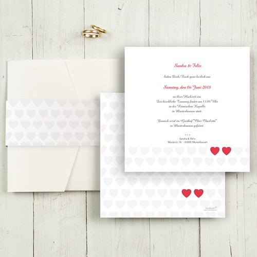 Hochzeitskarten Quadratisch - Romantic Love 50438 test