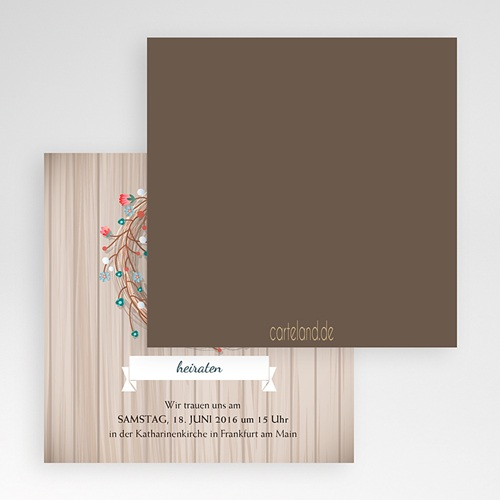 Hochzeitskarten Quadratisch - Landhochzeit 50445 preview