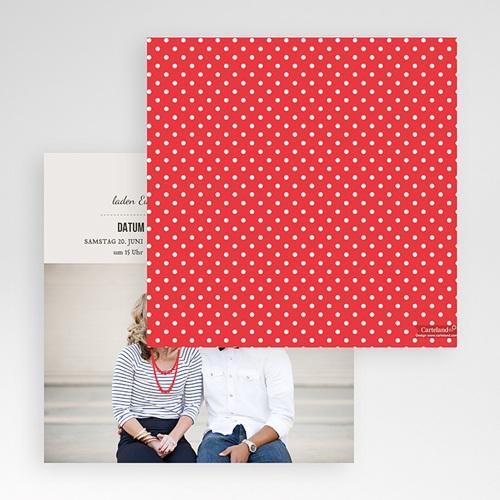 Hochzeitskarten Quadratisch - Vintage Rot 50447 preview