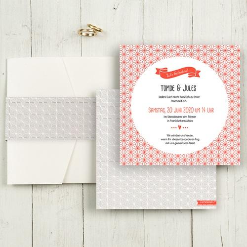 Hochzeitskarten Quadratisch - Origami 50449