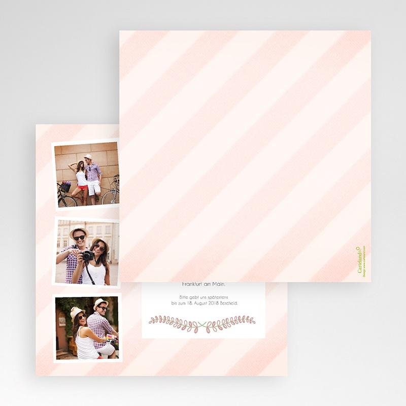 Hochzeitskarten Quadratisch - Streifendesign 50454 thumb