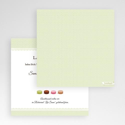 Hochzeitskarten Quadratisch Makrönchen