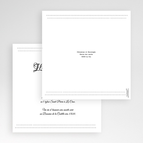 Hochzeitskarten Quadratisch - Edel und schön 50464 test