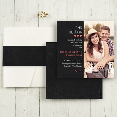 Hochzeitskarten Quadratisch - Puristisch 50467