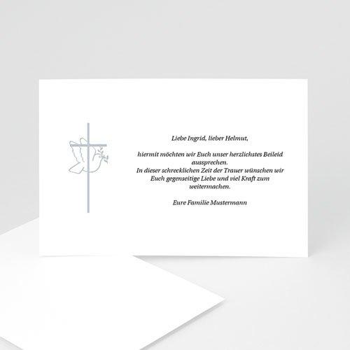 Trauer Danksagung christlich - Friedenstaube 5047 test