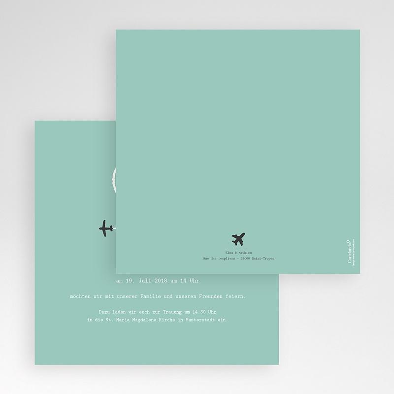 Hochzeitskarten Quadratisch Flieg