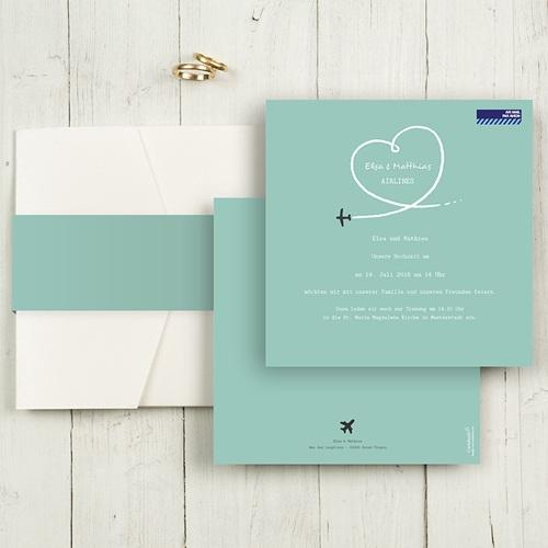 Hochzeitskarten Quadratisch - Flieg mit mir  50475