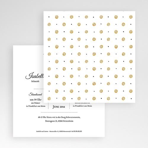Hochzeitskarten Quadratisch Schriftmix