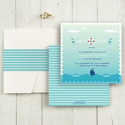 Hochzeitskarten Quadratisch - An Bord 50485