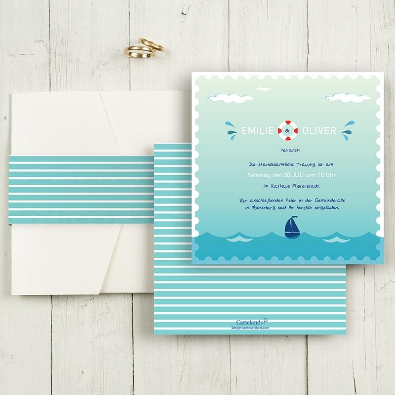 Hochzeitskarten Quadratisch An Bord