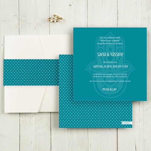 Hochzeitskarten Quadratisch - Kashmira 50487