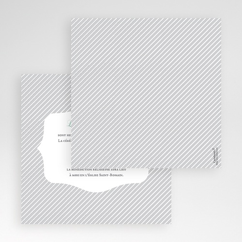 Hochzeitskarten Quadratisch - Schwarz-weiss gestreift 50490 preview