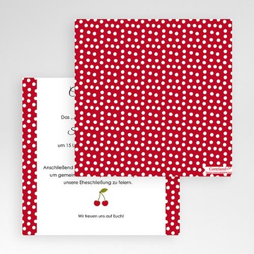 Hochzeitskarten Quadratisch - Rote 50493 preview