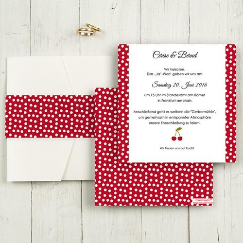 Hochzeitskarten Quadratisch - Rote 50494