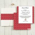 Hochzeitskarten Quadratisch - Rote 50494 test