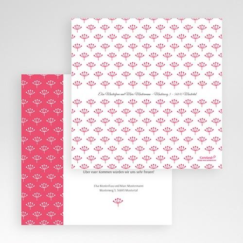 Hochzeitskarten Quadratisch - Himbeerfarben 50499 test
