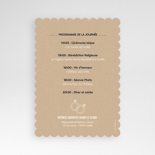 Hochzeitseinladungen modern - Kraftpapier 50508 preview
