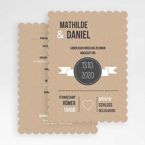 Hochzeitseinladungen modern - Kraftpapier 50509 preview