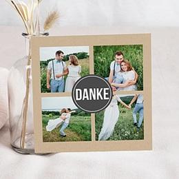 Alle Dankeskarten Hochzeit - Kraftpapier Design - 0