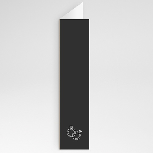 Menükarten Hochzeit Kraftpapier Design gratuit