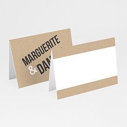 Tischkarten Hochzeit Kraftpapier Design