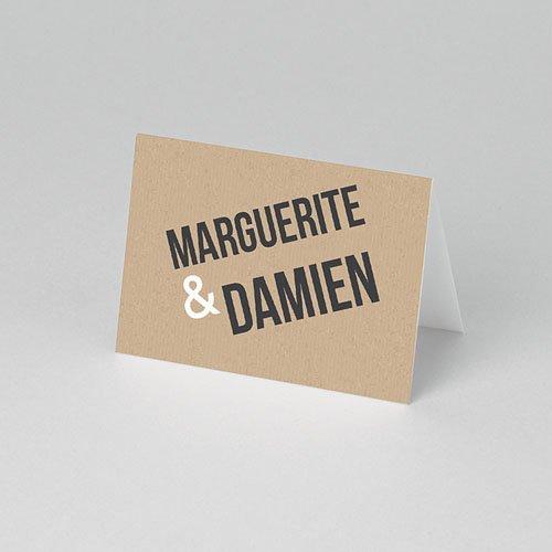 Tischkarten Hochzeit - Kraftpapier Design 50544 preview