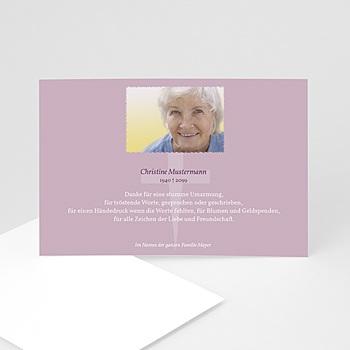 Trauer Danksagung christlich - Trauerkarte mit Foto - 1