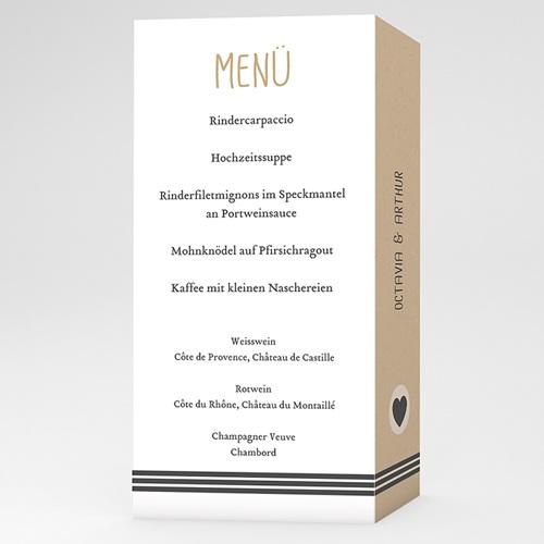 Menükarten Hochzeit - Kraft und Wellen 50553