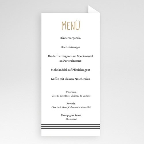 Menükarten Hochzeit - Kraft und Wellen 50554 preview
