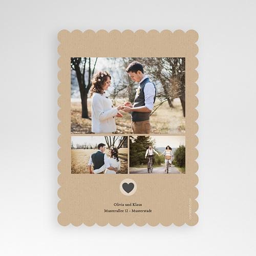 Dankeskarten Hochzeit Kraftpapier