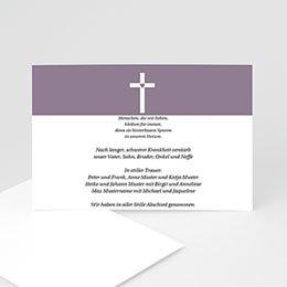 Karten Décès Chrétien Betende Hände