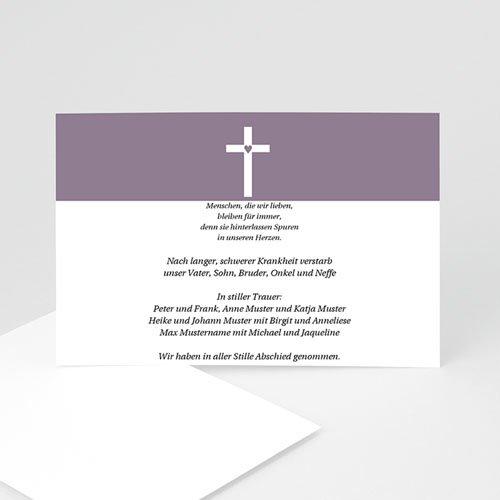 Trauer Danksagung christlich - Betende Hände 5059