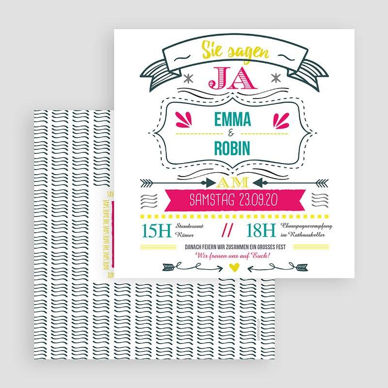 Hochzeitseinladungen LetterPress gratuit