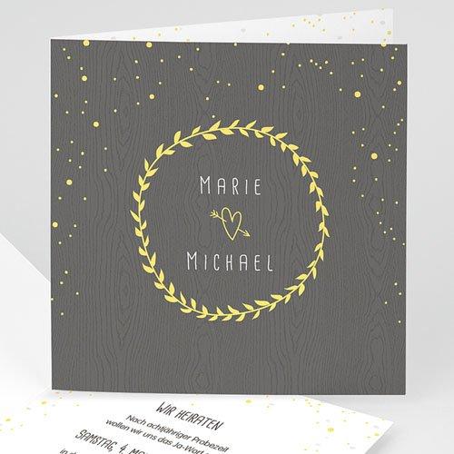 Hochzeitseinladungen modern - Hochzeitsdeko 50615