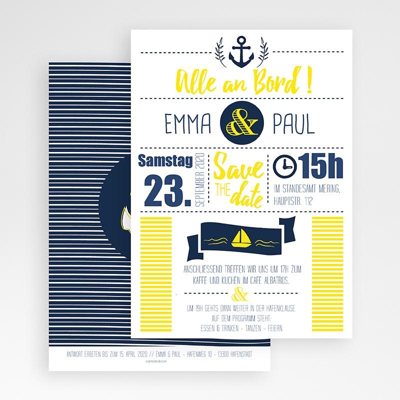 Reisen Hochzeitseinladungen Marineblau gratuit