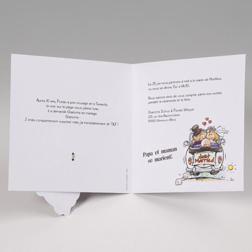 Hochzeitseinladungen traditionell - Mit Baby 50652 preview