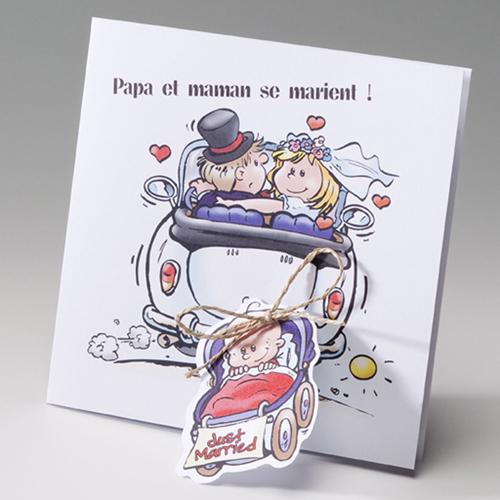 Hochzeitseinladungen traditionell - Mit Baby 50653