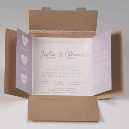 Hochzeitseinladungen traditionell - Kraftkarton 50664 preview