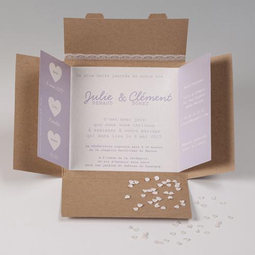 Hochzeitseinladungen traditionell - Kraftkarton 50665 preview