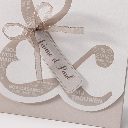Hochzeitseinladungen traditionell - Mehrsprachig 50671 preview