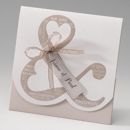 Hochzeitseinladungen traditionell - Mehrsprachig 50674