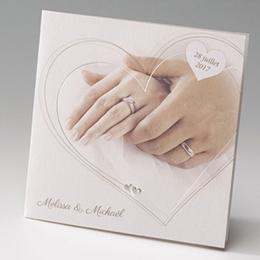 Hochzeitseinladungen traditionell - Hand in Hand - 1