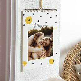 Kalender Loisirs Blau Gelb