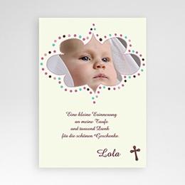 Dankeskarten Taufe Mädchen Ichthys