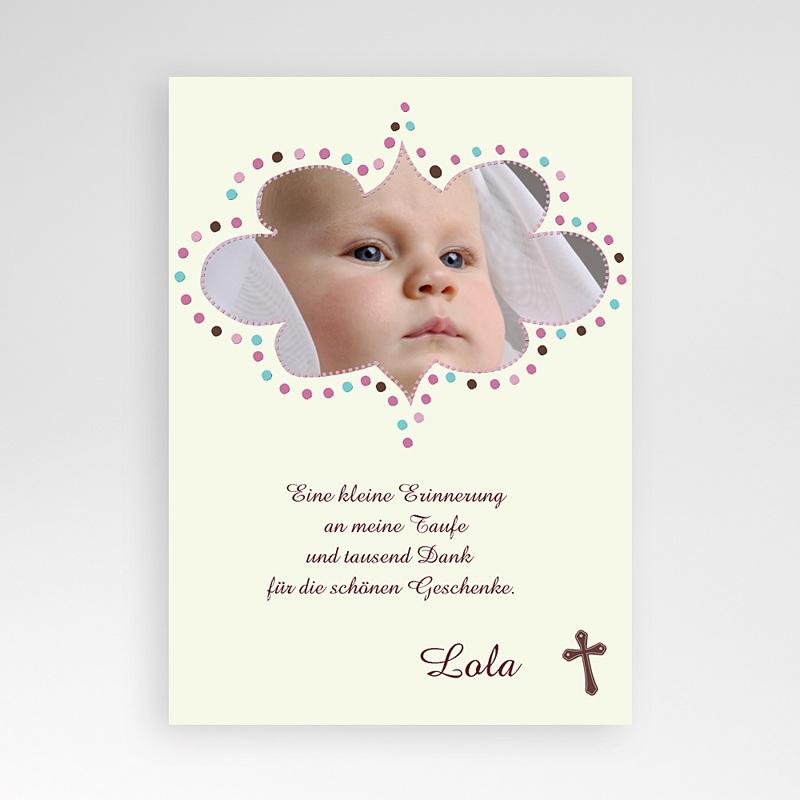 Dankeskarten Taufe fur Mädchen Ichthys
