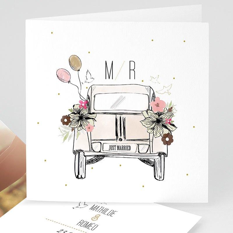 Hochzeitseinladungen Vintage Just married