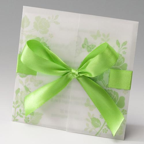 Hochzeitseinladungen traditionell - Lindgrün 50818